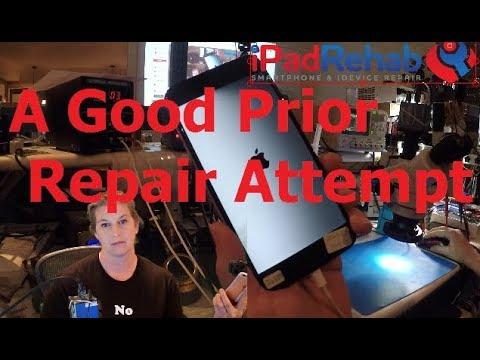 Half Dim Backlight—A GOOD Prior Repair Attempt!