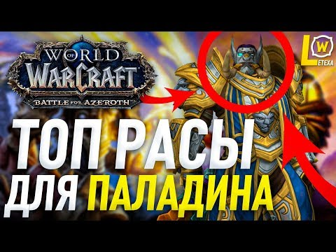 ТОП РАСЫ ДЛЯ ПАЛАДИНА WORLD OF WACRAFT BATTLE FOR AZEROTH