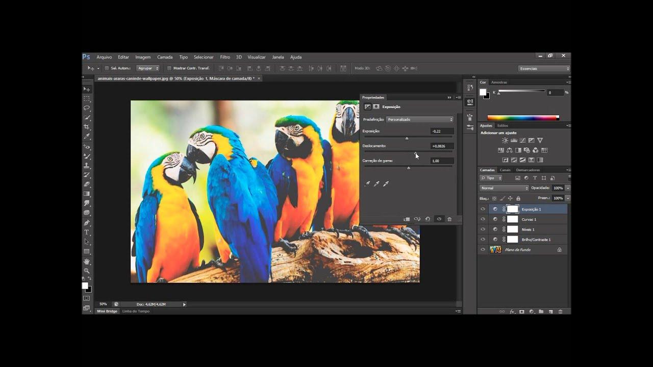 Curso Photoshop Cs6 Aula 19 Ferramentas De Ajuste E Correcao De