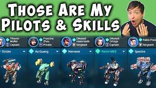 These Are My Best Pilots & Skills - War Robots My Hangar Gameplay WR