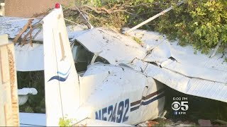 SAN JOSE CRASH:  3 injured as small plane crashes into a neighborhood near Reid-Hillview Airport
