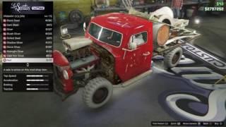 Gta5 Online pimpar en bil och vissar ett glitch