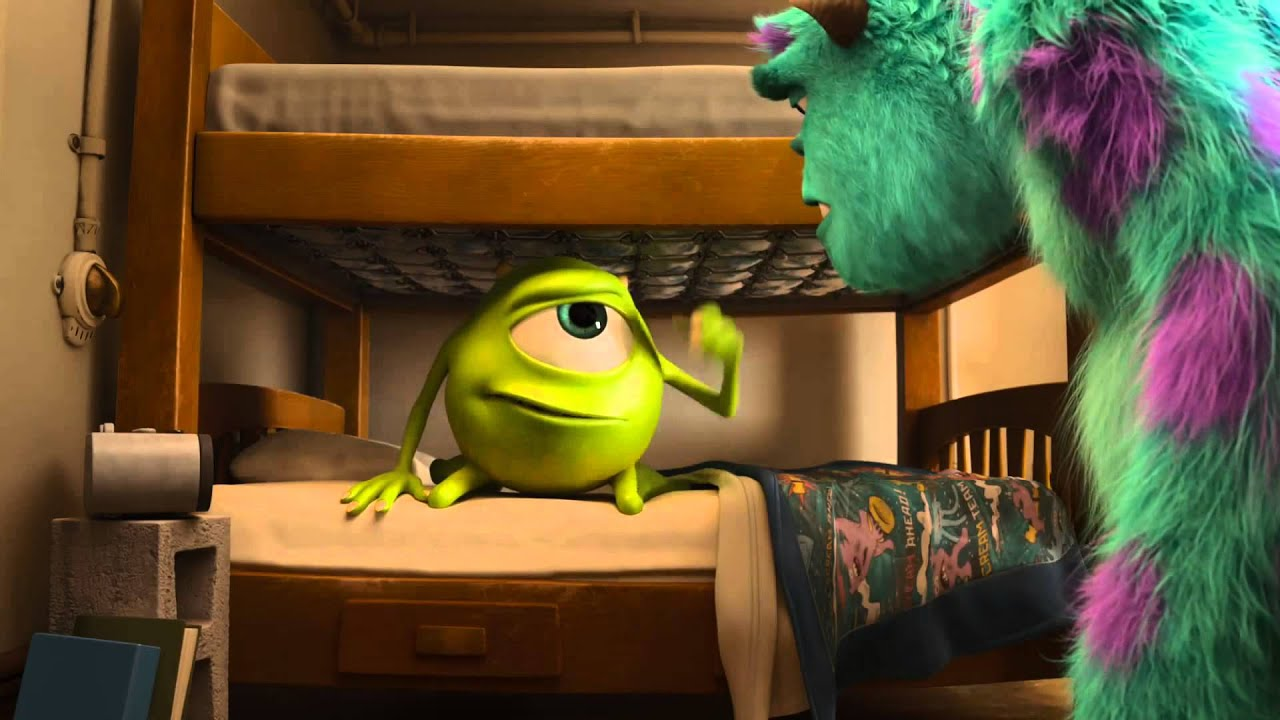 monsters university movie scene mike and sulleys first