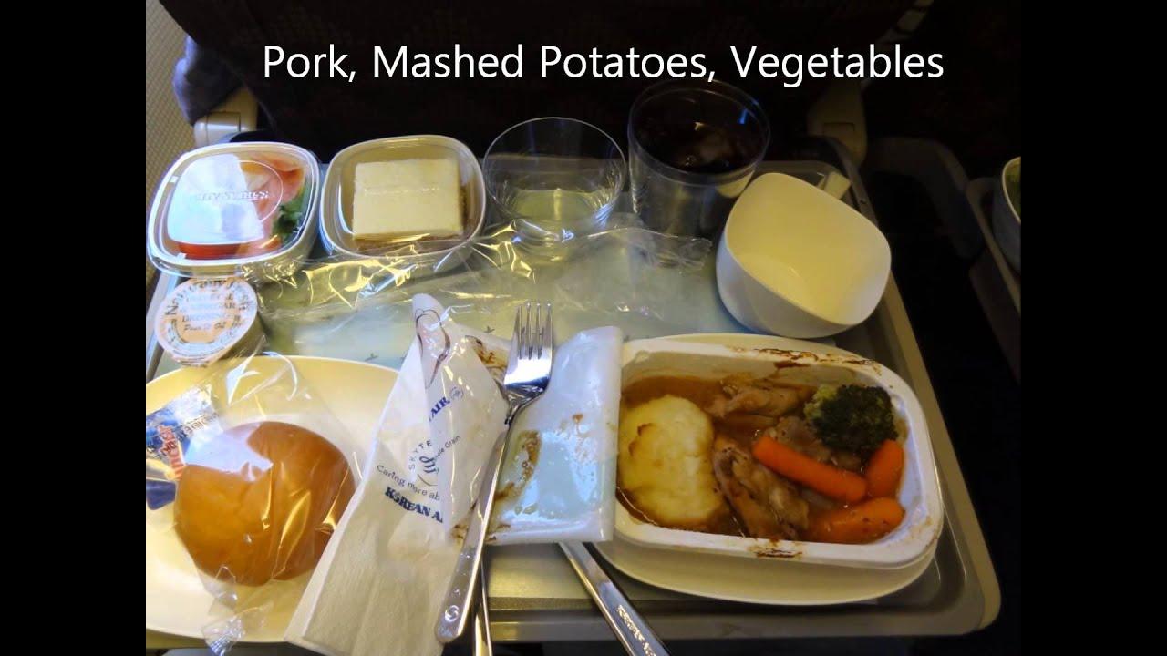 Korean Air Economy Class Food Menu