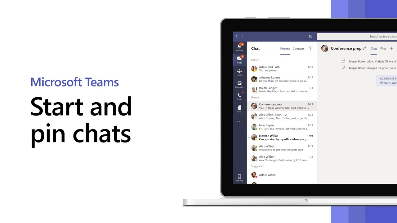 How To Start And Pin Chats In Microsoft Teams Youtube