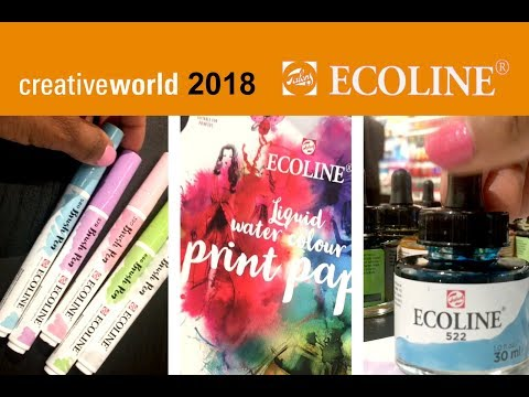NEW Ecoline brush pens, Ecoline paper -  Creative World 2018 Frankfurt