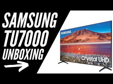 "Samsung TU7000 65"" Smart TV Unboxing"
