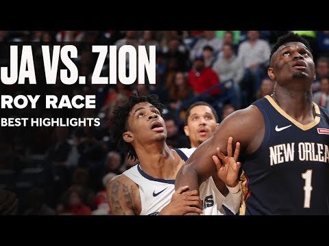 Ja Morant vs. Zion Williamson Rookie of the Year Race | Best Highlights 2019-2020
