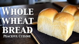 """Baking With Natural Yeast 3/3 """"whole Wheat Bread"""" ☆ 天然酵母パン3〜山食パン〜"""