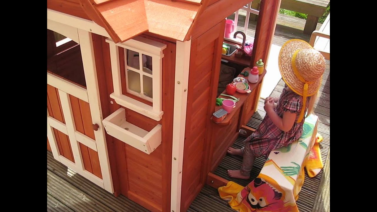 The Cedar Cottage Playhouse (Backyard Discovery)   YouTube