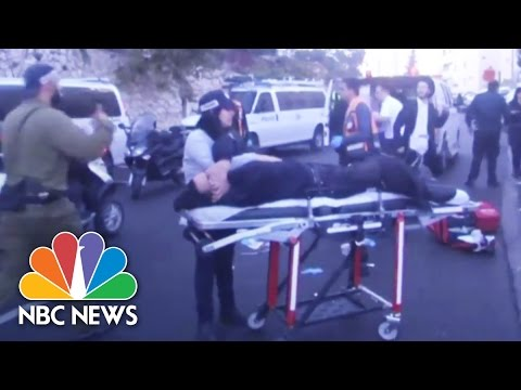 Raw: Israeli Police Shoot At Palestinian 'Terrorists' | NBC News