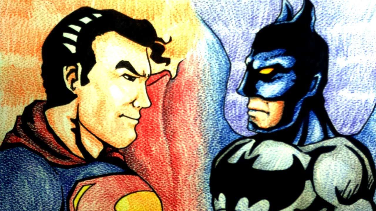 Batman V Superman Ep 3 Coloring ระบายส สอนวาดการ ต น วาดการ ต นก นเถอะ