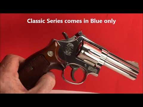 S&W Model 586 No Dash 357 Magnum Factory Rare Nickel Finish