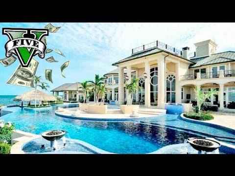Gta v mod mansion billonaria con piscina encima de la casa for Casa con piscina urdaibai