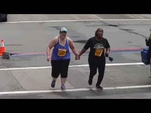 Final two runners of Pittsburgh Marathon finish hand in hand