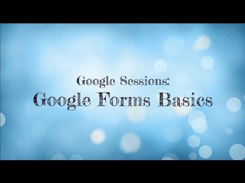 Google Forms Basics (Dec. 2016)