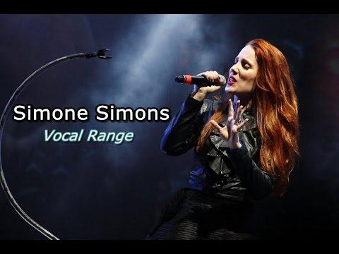 Simone Simons Vocal Range: D3 - C♯6 (F♯6)