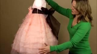 My Girl Dress.com | Dress Review: Peach Organza Layered Flower Girl Dress