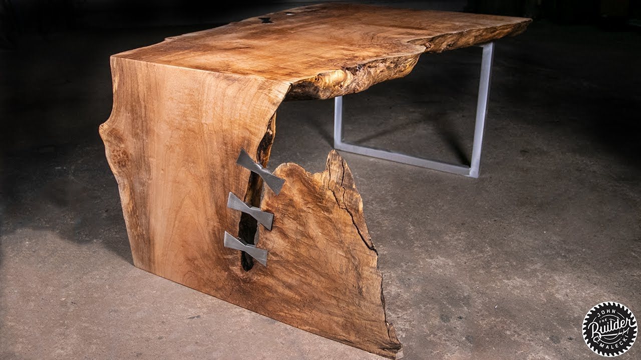 Live Edge Waterfall Coffee Table Woodworking How To