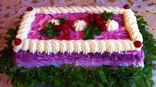 Праздничная Селедка Под Шубой / Dressed Herring / Новогодний Салат / Простой Рецепт (Очень Вкусно)