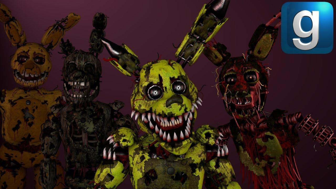 Gmod FNAF | New Stylized Sinister Scorch Nightmare Springtrap Nextbots