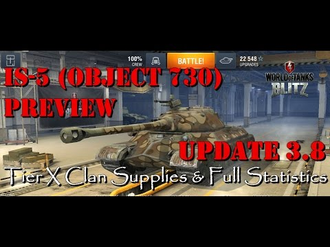 IS-5 (Object 730) & Tier X Clan Supplies | Update 3.8 Preview | WoT Blitz