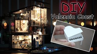 DIY Miniature Dollhouse Kit    Valencia Coast ( with full furniture and light )