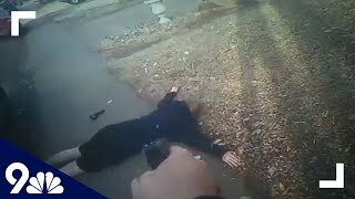 """RAW: Bodycam video shows attempted """"suicide by cop"""""""