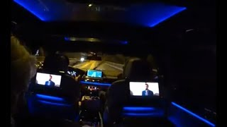 [4k] BEST rearseat with BMW M760Li Blueray, massage, LED lounge with moonroof. Better than 1st Class