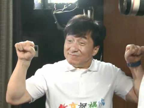 "Jackie Chan Recording ""Best Wishes From Beijing"" in Hong Kong"