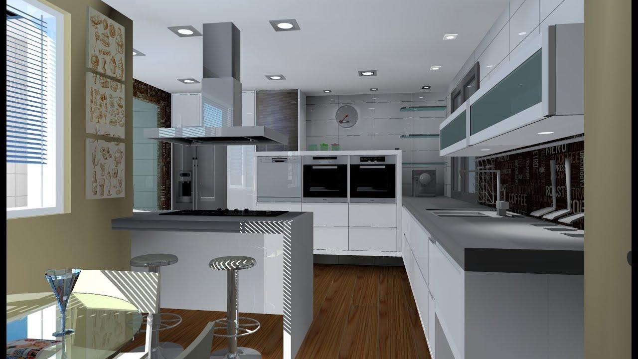 animacion virtual render cocina - YouTube