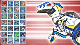 Dino Robot Battle Arena: Velociraptor Cops (Assembly + Fights) | Eftsei Gaming