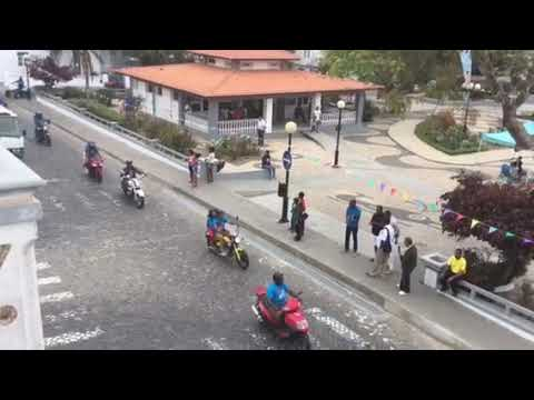 Travel to Island of Brava, Cabo Verde motorcycle parade
