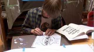 making stencils with mike shine   kqed arts