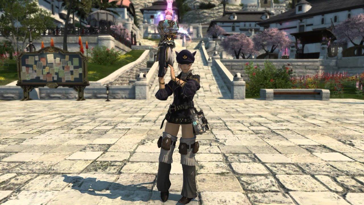 final fantasy xiv heavensward female machinist battle stance