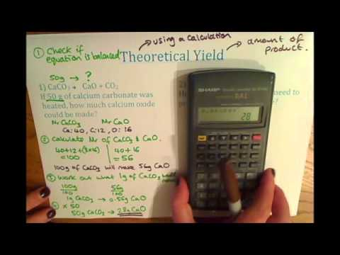 GCSE Additional Chemistry (C2) Theoretical Yield Calculation
