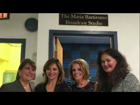 The Maria Bartiromo Broadcast Studio unveiled at Brooklyn high school