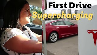 Model 3 - First Drive and Supercharging