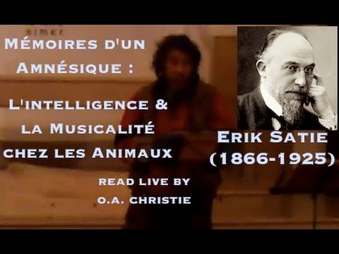 Mémoires d'un amnésique - Erik Satie