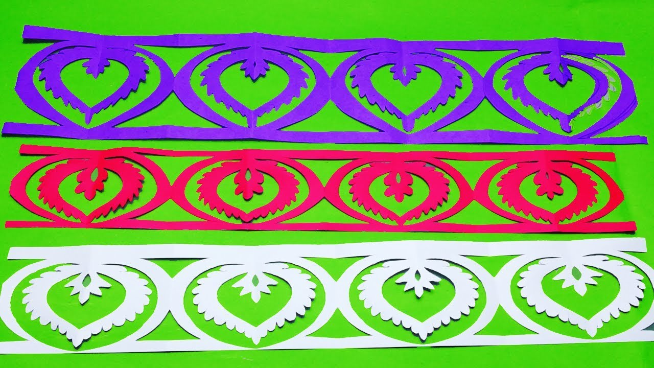 Paper Cutting Border How To Make Paper Cutting Border Designs Easy