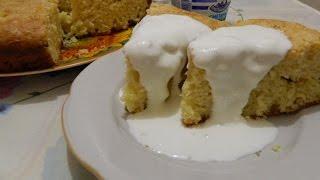 Пирог яблочный на майонезе. Домашняя выпечка.