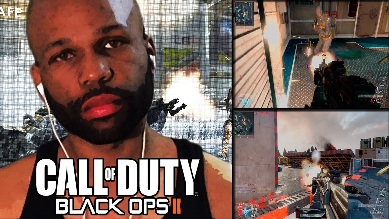 "black ops 2 live w/ face cam: reaction to a bitch ""black ops 2"