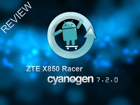 Review Rom Cyanogen 7.2.0 RC1 - ZTE X850 Racer