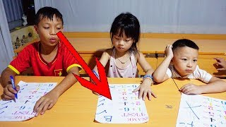 Kids Go To School Learn Math with Teacher at Class Fun Johny Yes Papa Nursery Rhymes