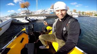 Testing electric outboard motor 32 and 60 lbs