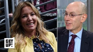 Adam Silver says Jeanie Buss will 'get it together', confirms conversation with Rich Paul | Get Up!