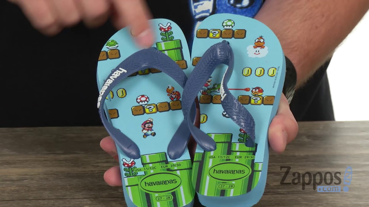 Havaianas Kids Mario Bros 13//1 Little Kid Blue