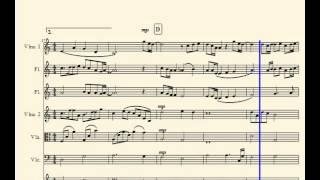 弦四+フルート2本,ホルンという異色の編成での楽譜を用意しました。こん...