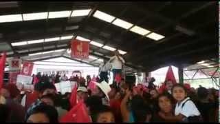 Incidentes en el mitin de Baldizón en Jalapa