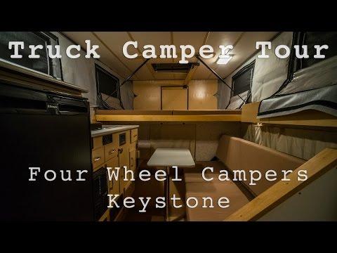Full Tour of Four Wheel Campers Keystone pop-up truck camper (2011) including mods/hacks, slideshow